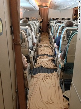 Singapore Airlines staff were commended for the way they handled the incident, and for how quickly they got everything back in order.