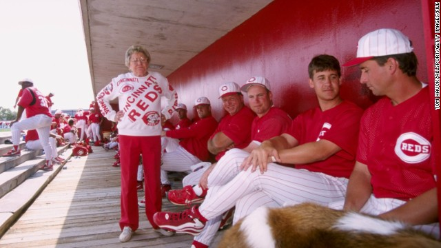 "Cincinnati Reds owner Marge Schott faced lawsuits, fines from the MLB and suspensions during her career for her offhand comments and actions. Schott told ESPN in 1996 that ""Hitler was good in the beginning, but he went too far."" That comment drew a $25,000 fine and one-year suspension."
