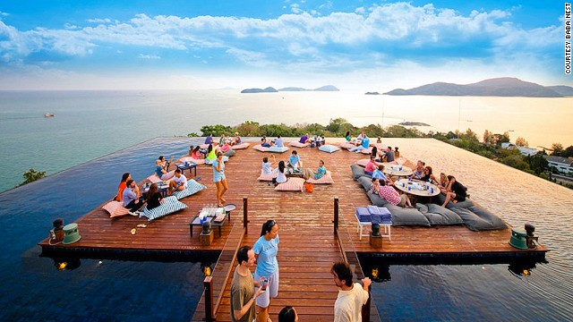 Coming in at number 2, this rooftop venue on the highest pinnacle of the southeastern peninsula enjoys 360-degree views across Phuket.