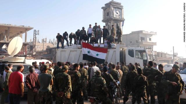 Siria recupera una zona fronteriza con Israel tomada por los rebeldes