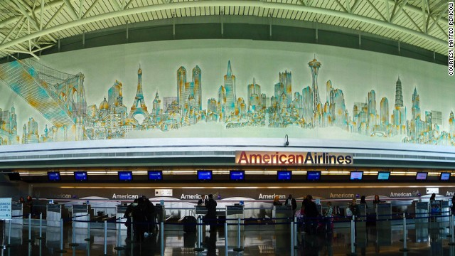 "Paul Goldberger flies out of JFK quite a bit and doesn't like it much. But he says the Matteo Pericoli mural at the American Airlines terminal is ""one of my favorite things at any airport."""