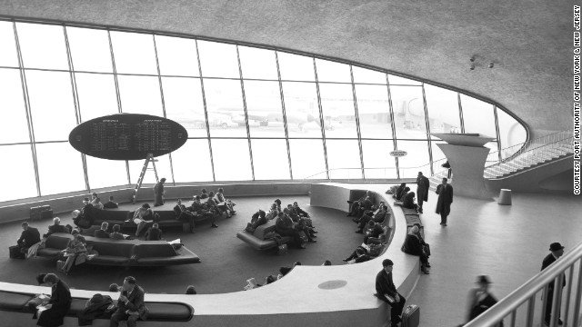The former TWA terminal remains a beautiful and inspiring building.