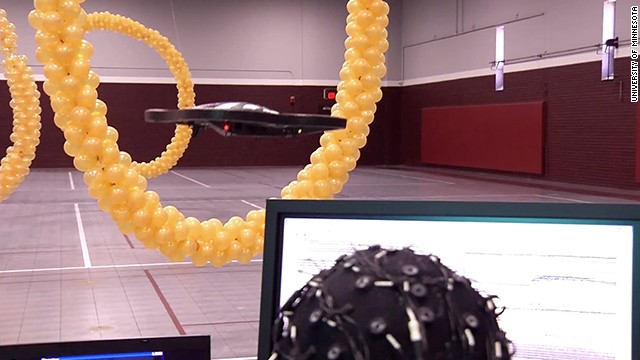 Controlling flying robots with your mind
