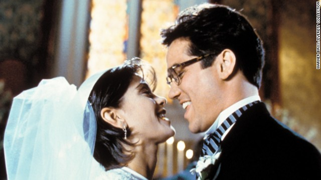"Dean Cain and Teri Hatcher co-star in the television series ""Lois and Clark: The New Adventures of Superman."" The show aired on ABC from 1993 to 1997."