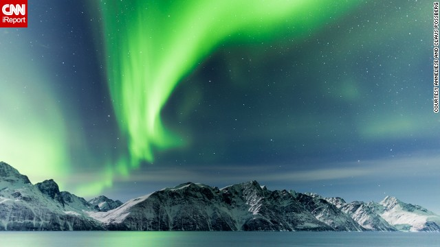 The Northern Lights dance over the Lyngen Alps. See more spectacular images of the phenomenon on <a href='http://ireport.cnn.com/docs/DOC-945438'>CNN iReport</a>.