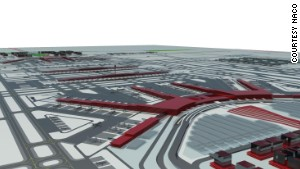 An artist\'s illustration of Beijing\'s new international airport.