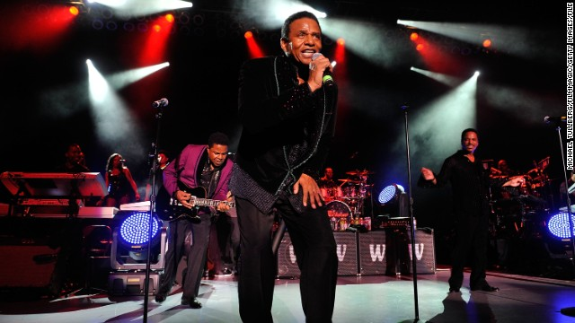 "Sigmund Esco ""Jackie"" Jackson, center, is the second of Joe and Katherine's children. He has two children with Enid Spann: Sigmund Esco ""Siggy"" Jackson Jr. and Brandi Jackson. Here he performs with brothers Tito, left, and Marlon Jackson in Los Angeles in July 2012."