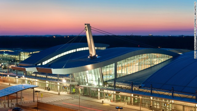Fentress Architects' design of Raleigh-Durham International Airport's Terminal 2 welcomes travelers coming to North Carolina.