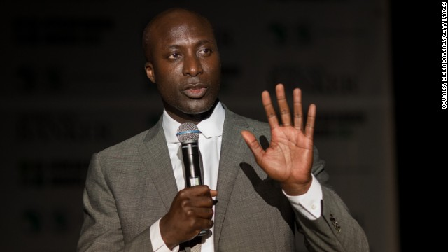 Ozwald Boateng, fashion designer and co-founder of Made in Africa Foundation, speaking at the African Development Bank's (AfDB) annual general meeting, on May 29, in Marrakech, Morocco.