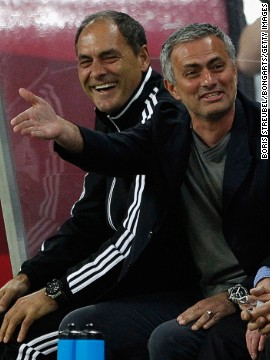 The World XI was coached by Jose Mourinho, who was Ballack's manager at Chelsea. It was confirmed this week that Mourinho had returned to Stamford Bridge after leaving Real Madrid.
