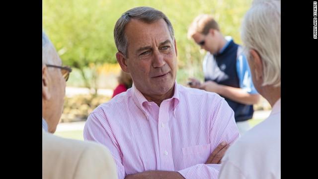 John Boehner, speaker of the U.S. House of Representatives, visits in 2012.