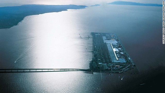 Architect Renzo Piano won an architecture competition in 1988 to design an airport on a man-made Japanese island near Osaka that didn't yet exist. (It does now.)