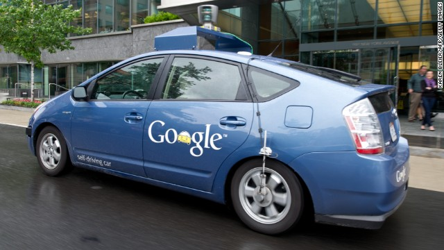Instead, driverless cars will be taking us around the streets, like this Google version maneuvering through the streets of Washington.