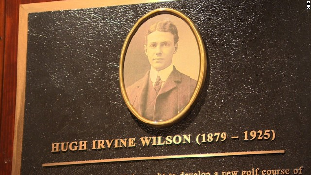 A plaque in the clubhouse is dedicated to the course's designer, Scotsman Hugh Wilson, who was a member at Merion.