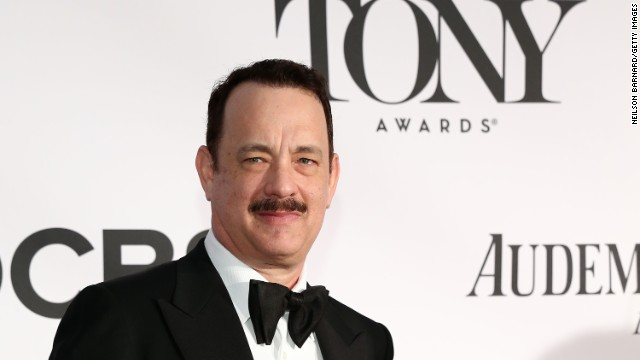 "Tom Hanks, star of ""Lucky Guy,"" attends the 67th annual Tony Awards in New York on Sunday, June 9."
