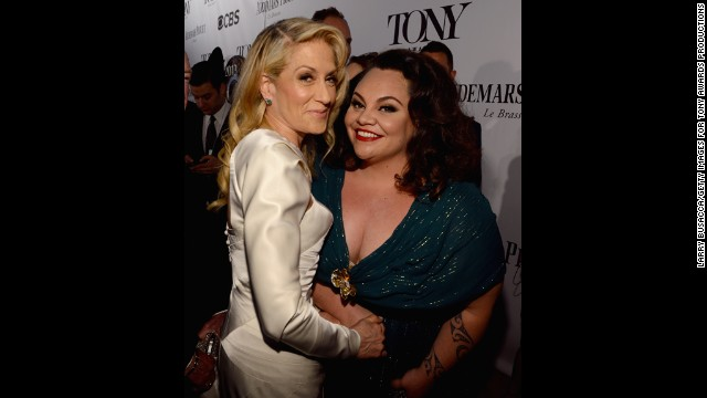 Judith Light, left, and Keala Settle attend the Tony Awards.