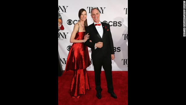 Keith Carradine and his wife, Hayley, attend the Tony Awards.