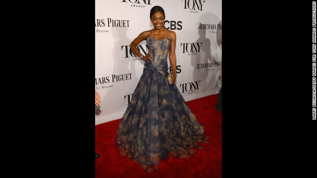 Tony nominee Patina Miller hits the red carpet.