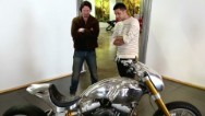 Strombo visits Keanu Reeves' Arch Motorcycles where the actor reveals a previously unknown side of himself.