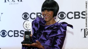 Cicely Tyson won the award for Best Performance by a Leading Actress in a Play for \'The Trip to Bountiful\' in The 67th Annual Tony Awards at Radio City Music Hall.