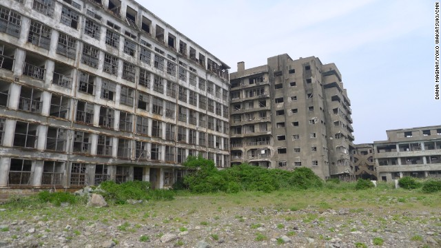 Hashima, off the coast of Nagasaki in western Japan, was opened to tourists four years ago but access is strictly limited.