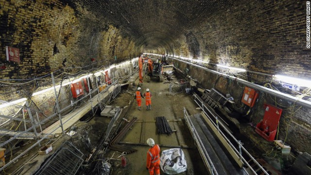 More than 8,000 people are involved in the Crossrail development working across 40 separate construction sites.