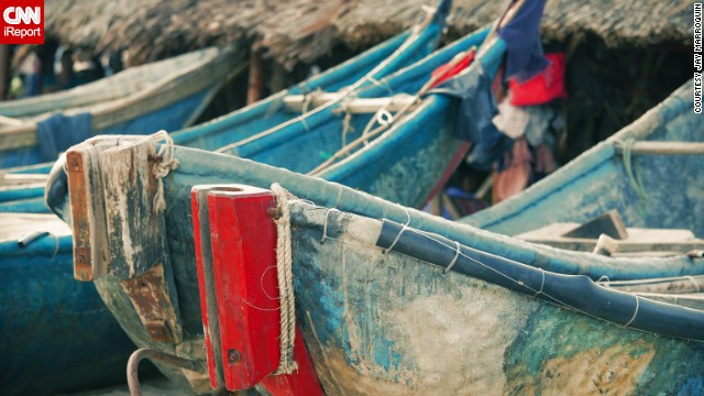 Colorful boats line the beach at Xuyen Moc. See more photos from around Vietnam on CNN iReport.