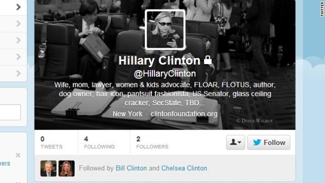 El debut de Hillary Clinton en Twitter le deja miles de seguidores en horas