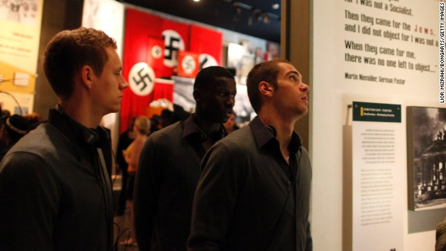 "Germany striker Pierre-Michel Lasogga told CNN that his visit to the museum in Jerusalem was ""extremely moving."""