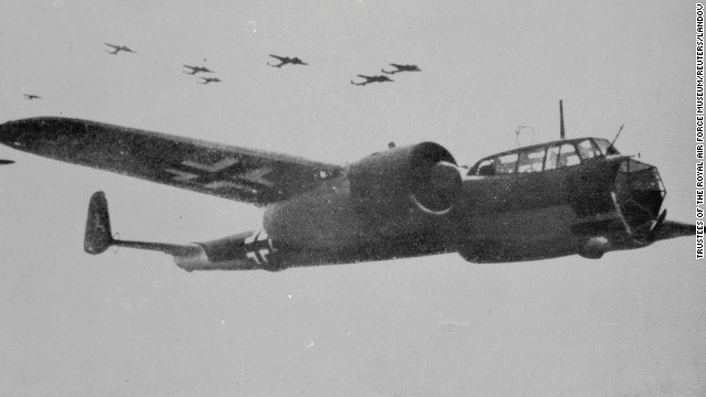 A German Luftwaffe Dornier 17 bomber is seen in flight in this undated World War II era archive photo provided by the Royal Air Force Museum.