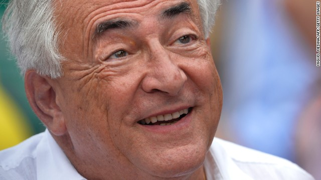 Former IMF chief Dominique Strauss-Kahn (Photo credit should read MIGUEL MEDINA/AFP/Getty Images)