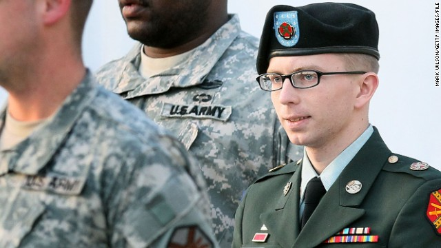 Army Pfc. Bradley Manning was convicted July 30 of stealing and disseminating 750,000 pages of classified documents and videos to WikiLeaks, and the counts against him included violations of the Espionage Act. He was found guilty of 20 of the 22 charges but acquitted of the most serious charge -- aiding the enemy. Manning is set to speak in his defense when he takes the stand during the sentencing phase of his court-martial on Wednesday, August 14. He could face up to 90 years in prison if the judge imposes the maximum sentence.