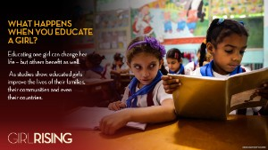What happens when you educate girls? Everything