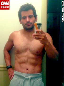 Velez shows off his most recent progress; he's lost 155 pounds in 11 months.