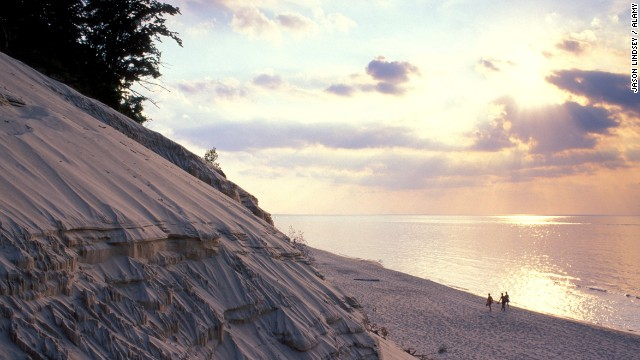 Visitors to Silver Lake Sand Dunes, Michigan, can ride beach buggies, tour farmers' markets and take in a massive July 4th fireworks show.