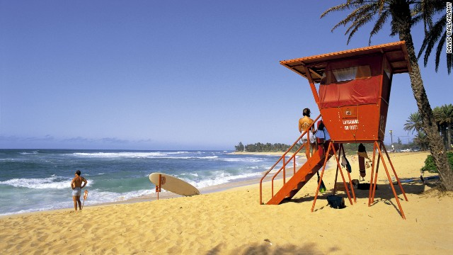 Sunset Beach is on the North Shore of Oahu and is considered the surfing capital of the world.