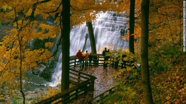 The 65-foot Brandywine Falls is Adams' spiritual retreat in the park. It's also a great spot for geologists and historians to explore.