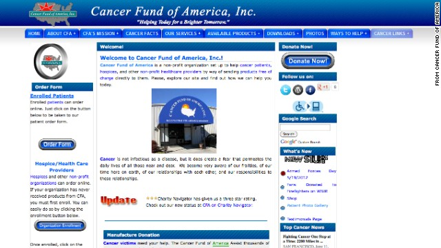 "No. 2: Cancer Fund of America: CFA raises millions yearly and sends 82% to its for-profit fund-raisers. Over the past decade, fund-raisers have collected $98 million in donations. Patients have gotten less than $1 million in direct cash aid over those 10 years, IRS records show. The group's founder said, ""We can only help others with the funds we net whether it be 90 or 20%."""