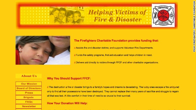 No. 5: Firefighters Charitable Foundation: This group says it provides financial assistance to people who have been affected by a fire or disaster. From 2002 to 2011, it raised $64 million in donations and paid $55 million of that to its solicitors. The charity spent less than 10 cents of every dollar raised on direct financial assistance to those in need. The group said in 2007 that it planned to change. That hasn't happened.
