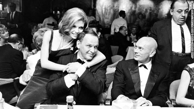 Frank Sinatra and daughter Nancy (with Yul Brynner), 1965.
