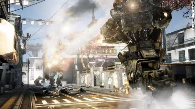 """Titanfall,"" from the original founders of Infinity Ward, offers two very different types of shooter action: as a pilot who can take to the ground and fight with traditional weapons or that same pilot after jumping into a 24-foot mechanized robot that brings a whole new level of firepower to the battlefield."