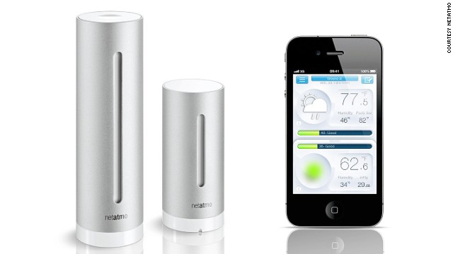 This sleek device by <a href='http://www.netatmo.com/en-US/site' target='_blank'>Netatmo</a> takes air quality, humidity, and carbon dioxide readings, indoor/outdoor temperature, and even noise pollution. It also sends notifications in real time via your iOS, or Android smartphone, or tablet.