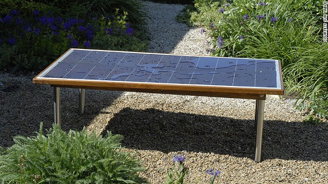 Place the weather-resistant <a href='http://suntable.net/' >Sun Table</a> in direct sunlight for four hours to reach a full charge. Then move it anywhere you need power - its inverter will juice your laptops, cellphones, lights, etc.