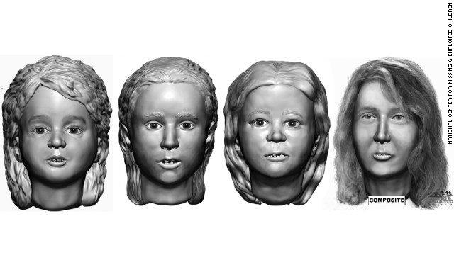 The remains of a woman between 23 and 33 (far right) were found in Allenstown, New Hampshire, in 1985. Remains of the girl second from left were found in the same barrel. The other two bodies were discovered in 2000.