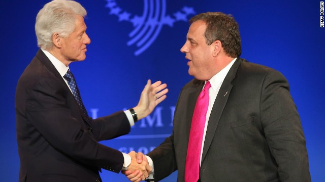 Bill Clinton lauds Chris Christie