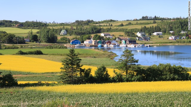Rolling fields and red-sand beaches make up the scenic maritime province of Prince Edward Island.