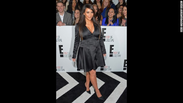 Kim Kardashian attends the E! 2013 Upfront presentation in April.