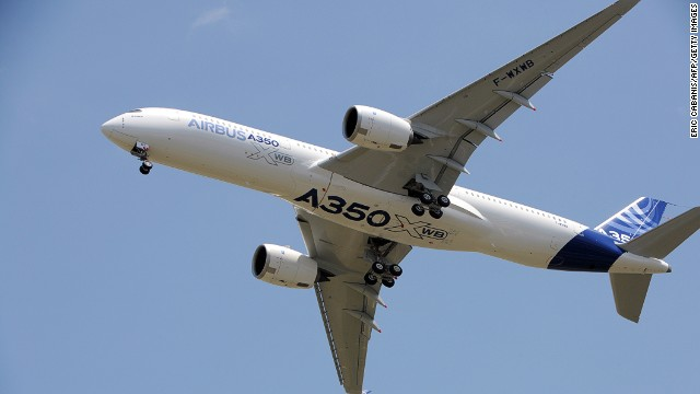 Airbus' A350 XWB flew for the first time on Friday.