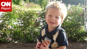 Halstead uses her Facebook page to share photos of Tripp before and after the accident.