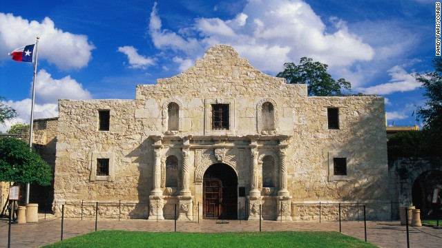 The Alamo chapel in San Antonio is an official Texas State Shrine -- and the state's most popular site with more than 2.5 million annual visitors.